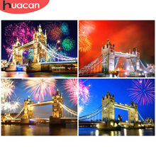 HUACAN 5D DIY Diamond Painting London Bridge Round Drill Embroidery Sale Diamond Mosaic Rhinestone Picture Home Decor Gift(China)
