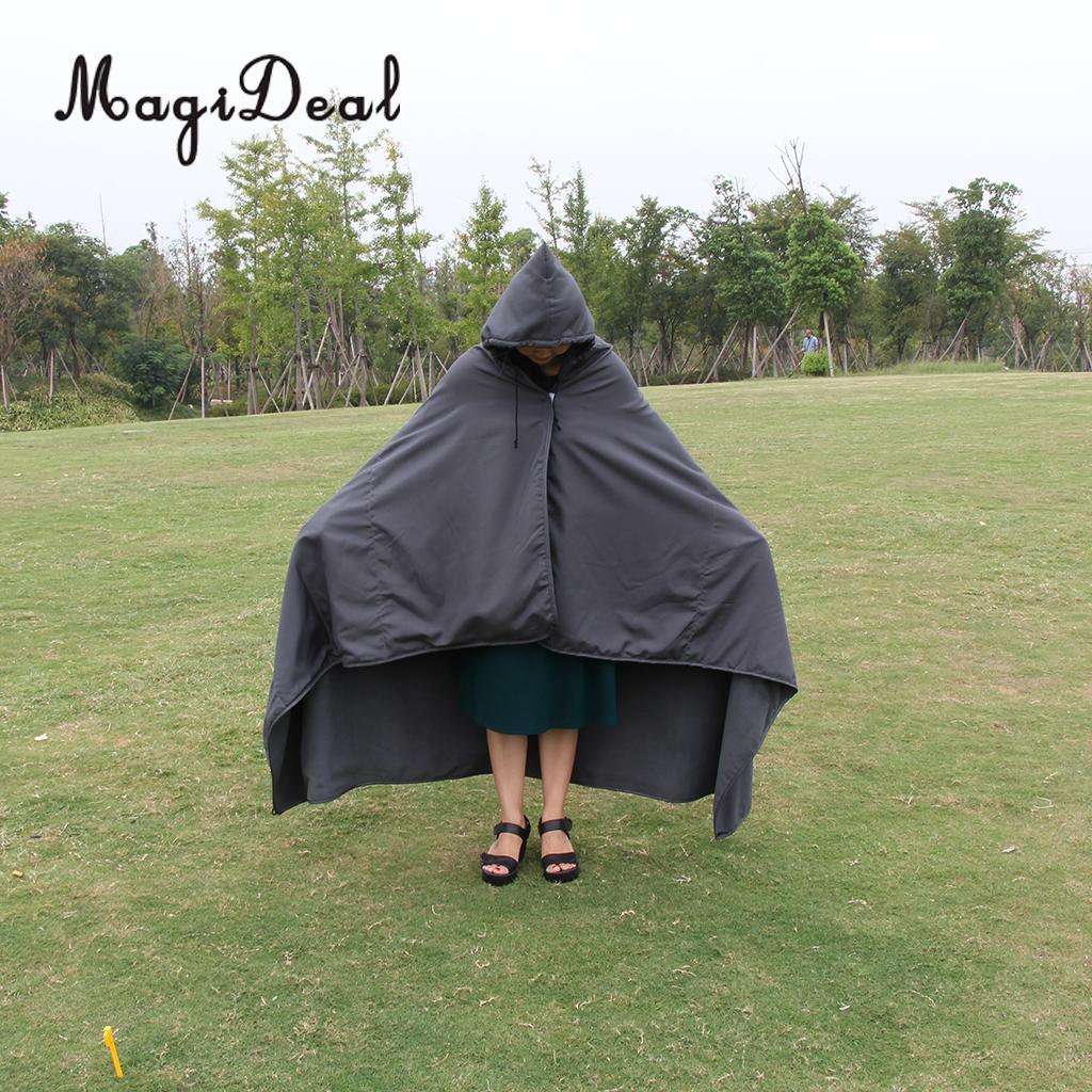 MagiDeal Da Viaggio Campeggio Sacco A Pelo Fodera Coperta Trapunta Zerbino vestito di cappotto di Pioggia Del Capo con borsa per il trasporto