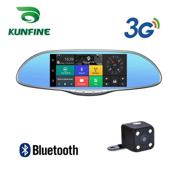 "KUNFINE 10"" Android GPS Navi Dash Cam Car DVR Mirror Video Recorder Dual Cameras Recording WIFI Bluetooth With 3G FM Transmit"