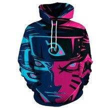 New Autumn Winter Anime Naruto 3d Digital Printing Hoodie Hood Sportswear Cosplay Costumes Unisex