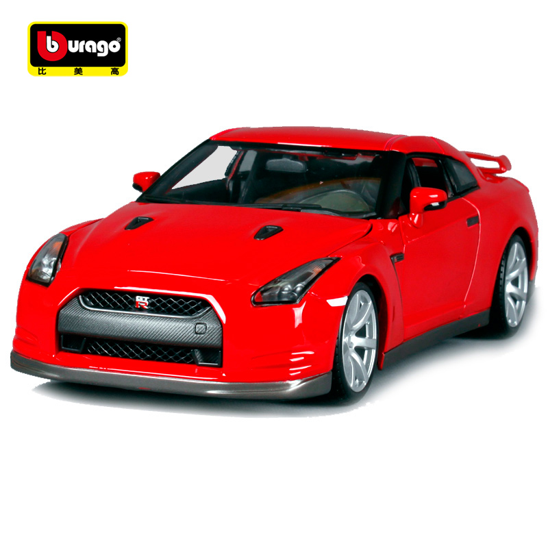Bburago 1:18 2009 Nissan GT-R Sports Car Diecast Model Car Toy New In Box Free Shipping 12079 maisto 1 24 nissan gtr gt r r35 tokyo mod diecast model racing car vehicle toy new in box
