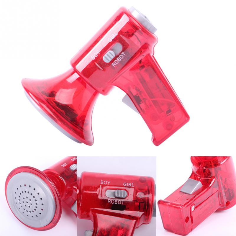 For Children Kids Loudspeaker Interesting Enligten Educational Toys Mini LED Voice Changer Voice-changing Loudspeaker Toy Gift