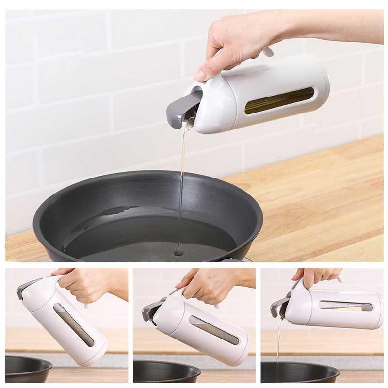 Pot d'huile en verre de cuisine maison pour empêcher le déversement Pot assaisonnement Sauce vinaigre bouteille bouteille huile petite bouteille d'huile