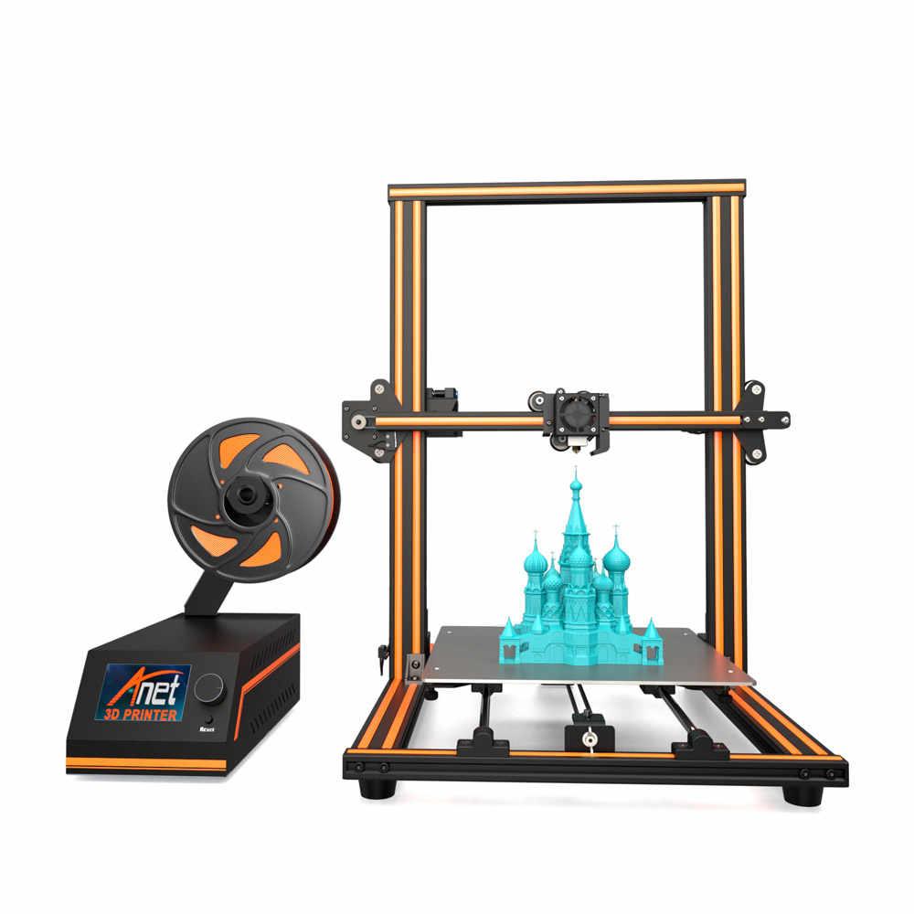 Anet E16, impresora 3D DIY de alta precisión, autoensamblaje, 300*300*400mm, marco de aleación de aluminio, pantalla LCD, alimentación automática de filamentos