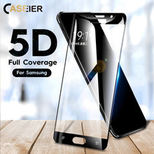 CASEIER 5D Screen Protector Film For Samsung Galaxy A5 2017 A7 2018 A6 A3 Protective Tempered Glass J3 J5 J7 2016