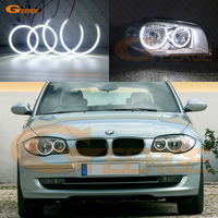 For BMW 1 Series E81 E82 E87 E88 Halogen Headlight Excellent Ultra bright illumination smd led Angel Eyes Halo Ring kit DRL