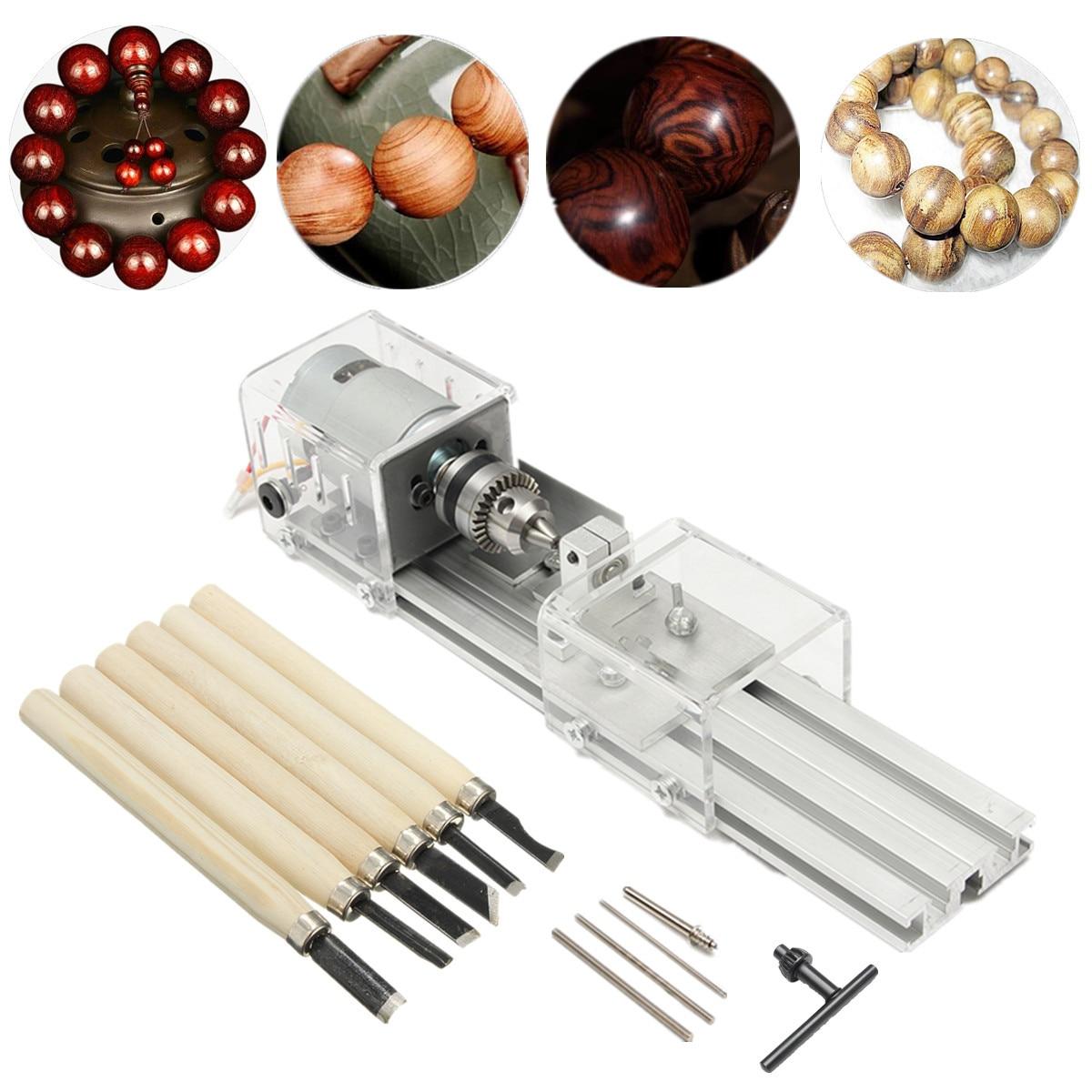 24V 100W DIY Lathe Machine Miniature Lathe Beads Polisher Machine Buddha Pearl Lathe Grinding and Polishing Beads Wood Working цены