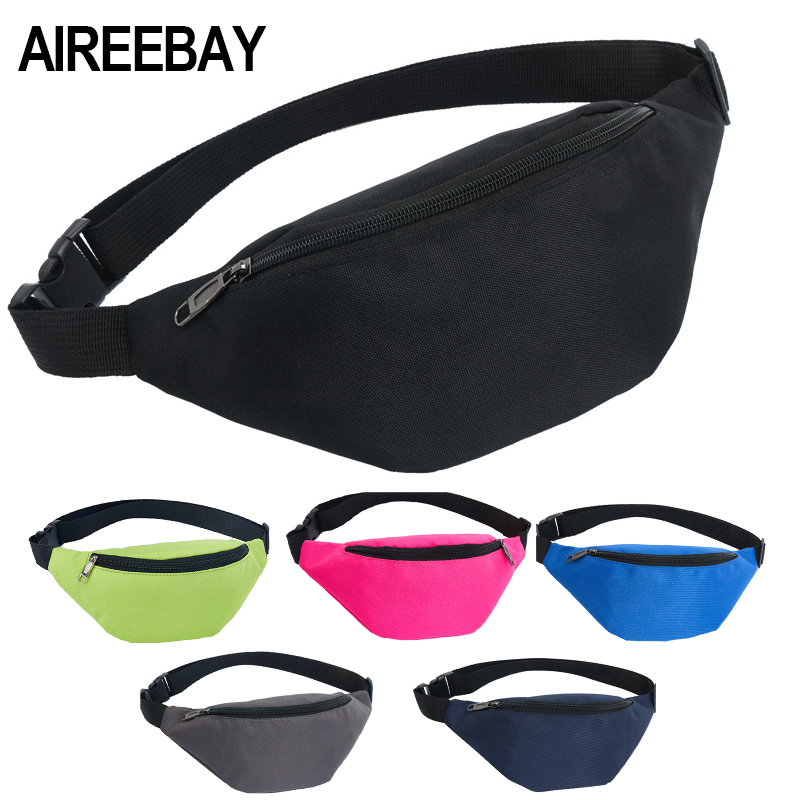 AIREEBAY Waist Bag Female Belt New Brand Fashion Waterproof Chest Handbag Unisex Fanny Pack Ladies Waist Pack Belly Bags Purse (China)