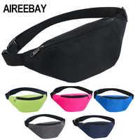 AIREEBAY Taille Tasche Weibliche Gürtel New Fashion Marke Wasserdichte Brust Handtasche Unisex Fanny Pack Damen Taille Pack Bauch Taschen Geldbörse
