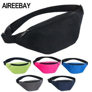 AIREEBAY Waist Bag Female Belt New Brand Fashion Waterproof Chest Handbag Unisex Fanny Pack Ladies Waist Pack Belly Bags Purse