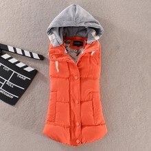 купить Plus Size New Women Cotton Hooded Down Vest Hat Female Thicken Winter Warm Black Jacket Outerwear M-6XL по цене 1822.37 рублей