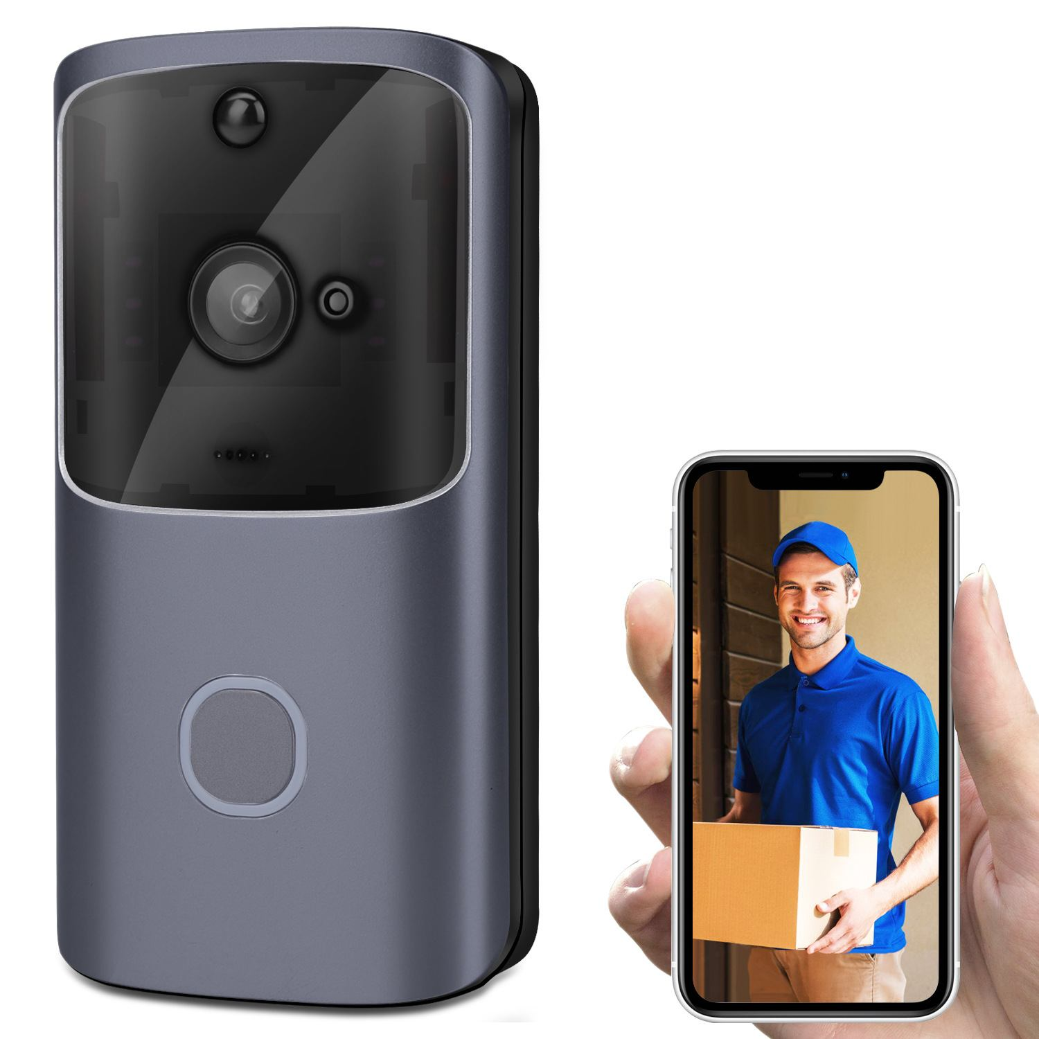 M10 720P HD 2.4G Wireless Wifi Smart Video Doorbell Support TF Card Cloud Storage Home Security Motion Detector Alarm SystemM10 720P HD 2.4G Wireless Wifi Smart Video Doorbell Support TF Card Cloud Storage Home Security Motion Detector Alarm System