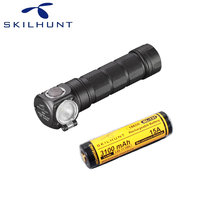 Skilhunt H03F LED Lampe Frontale CREE XML-2 U4 LED 1200Lm phare chasse pêche y compris batterie