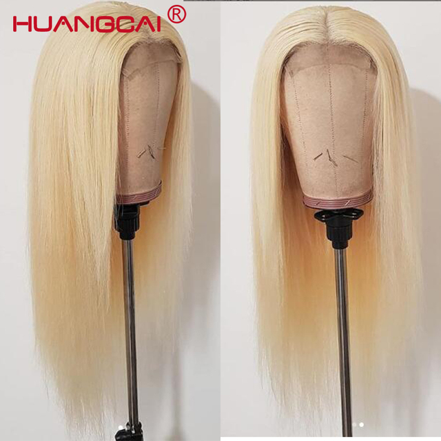 #613 Blonde Wigs 150% Density Brazilian Straight Remy Human Hair Lace Front Wig Pre Plucked With Baby Hair Blonde Lace Wigs