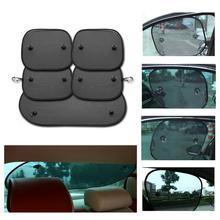 Black Car Sun Shade Side Window Sunshade Cover Mesh Visor Shield  UV Protection for Car Window Sunscreen Suction Cups with Bag