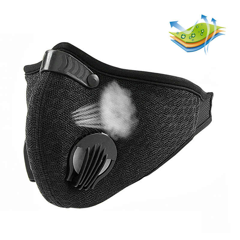 2018 Anti Dust Training Mask Cycling Masks With Filter Half Face Carbon   Mountain Bicycle Sport Road Cycling Masks Face Cover