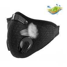 2018 Anti Dust Training Mask Cycling Masks With Filter Half Face Carbon  Mountain Bicycle Sport Road Cover