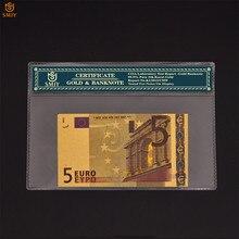 Notas de euro 5 euro papel dinheiro contas mundiais moeda para coleção com coa quadro e presentes de negócios