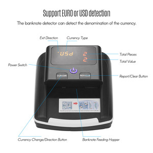 Image 5 - Aibecy Bill Counter Money Counter Money Detector Cash Money Bill Counter Banknote Counter with UV/MG/IR/DD Counterfeit Detector