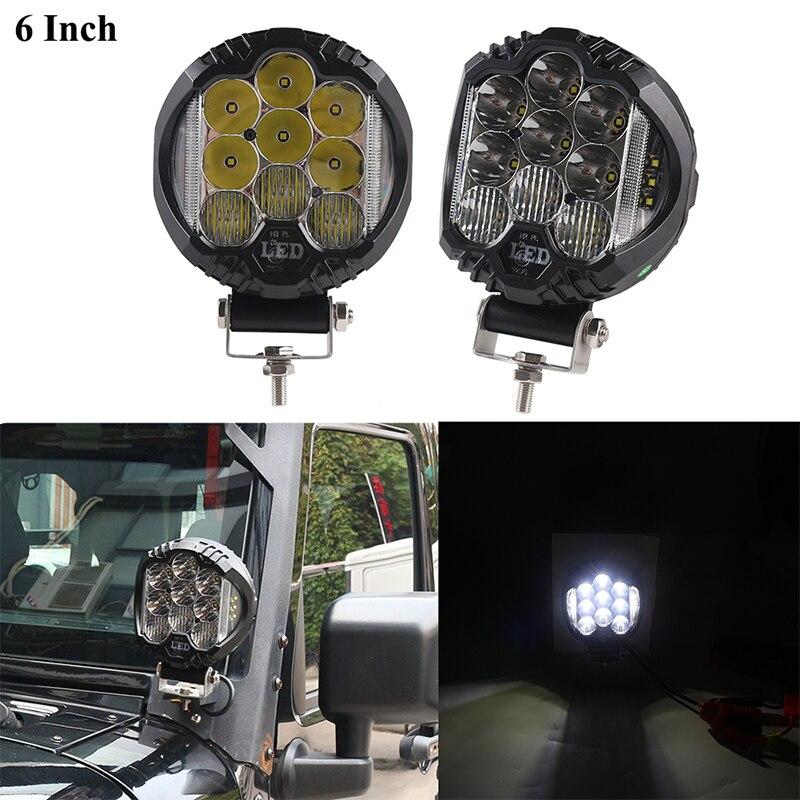 2 pièces 80 W côté tireur LED dosettes voiture LED travail barre lumineuse double LED Cube Offroad Combo faisceau lampes de conduite pour camion 4x4 tracteur UTV