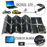 Solar Panel 17V 100W Folding Foldable Solar Panel Charger Mobile Power Bank 2 USB Port 5V 3A DC5521 For Phone Laptop Car