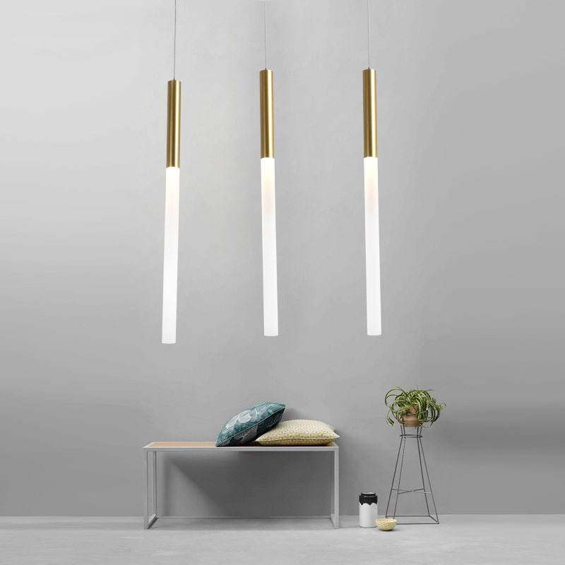 LED Pendant Light Dining room Hanging Lamp Bedroom Living Room Decoration Lighting Gold Lamp Body Frosted Acrylic Lampshade