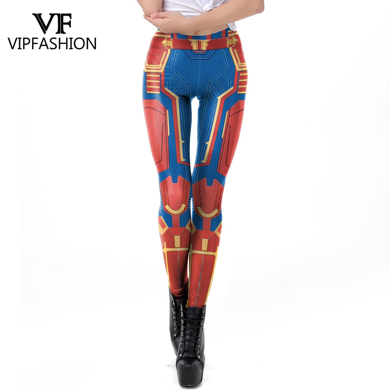 VIP MODA 2019 Chegada Nova Leggings Mulheres 3D Capitão Marvel Super Hero Filme Impresso Legging Treino de Fitness Plus Size Legins