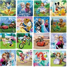 Disney Frozen Mickey Minnie Mouse Printed Puzzle Learning Education Interesting Wooden Toys For Children Kids Gift Brinquedos