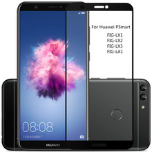 3D מלא כיסוי מזג זכוכית עבור Huawei PSmart מסך מגן עבור Huawei P חכם מגן זכוכית סרט על תאנה LX1 LX2 LX3 LA1