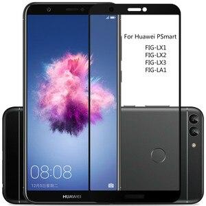 Image 1 - 3D מלא כיסוי מזג זכוכית עבור Huawei PSmart מסך מגן עבור Huawei P חכם מגן זכוכית סרט על תאנה LX1 LX2 LX3 LA1