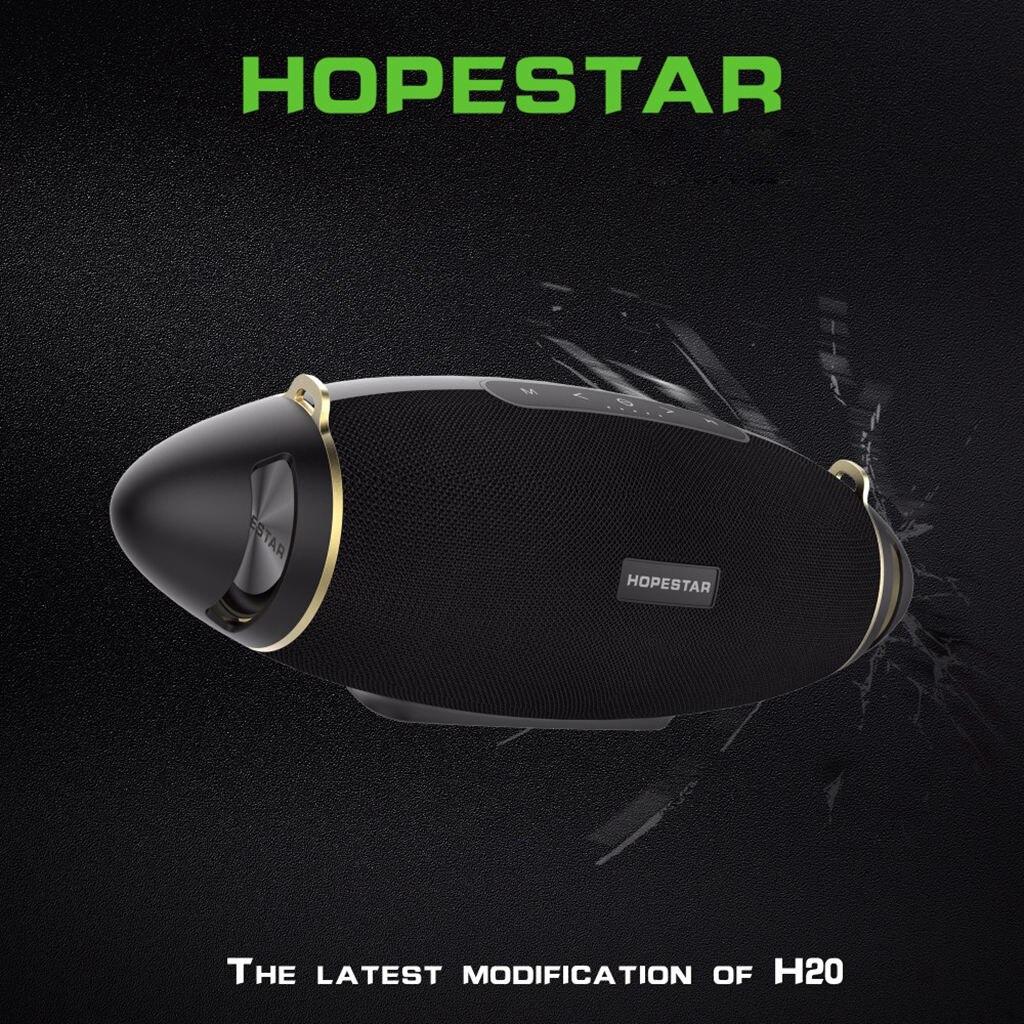 HOPESTAR H20 Rugby 30 W haut-parleur Bluetooth colonne Pc sans fil Portable Mini étanche méga basse stéréo extérieur caisson de basses Tf Usb - 4