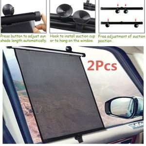 Image 4 - 2 × 40 × 46 センチメートル格納式カーウィンドウサンシェードバイザーロールカーテンブラインド吸引パッド