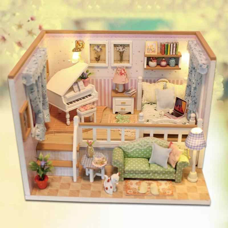 Detail Feedback Questions About 3d Wooden Doll Houses Miniature