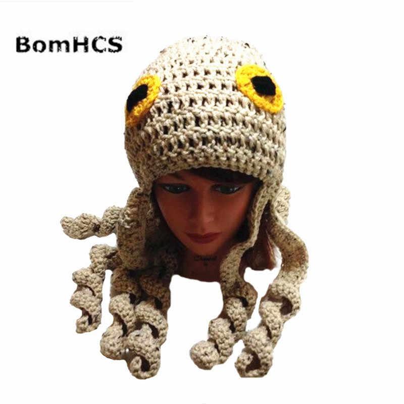 BomHCS забавная шапка ушанка с осьминогом подарок на Хэллоуин Пиратская 100% ручная