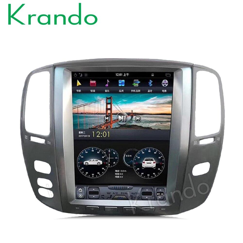 Krando car radio gps for Lexus Lx470 2002 2007 android 6 0 12 1 Tesla Vertical