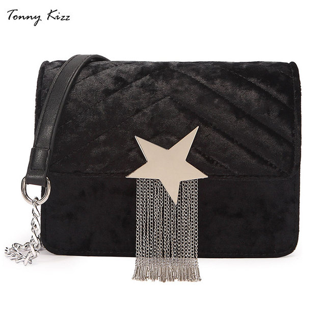 Tonny Kizz women messenger bags small shoulder bag female tassel handbag  fashion crossbody bag for ladies pentagram desigual 054fc50df67f2