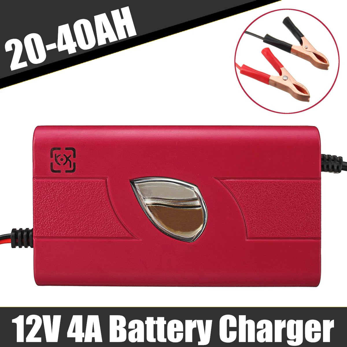 US Plug 12V 4A 20AH-40AH Universal Car Motorcycle Battery Charger For Lead Acid Battery Chargers