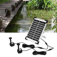 Zerodis Solar Powered Water Pump 5W Double Pump Brush-less Aquarium Fountain Pond Solar Submersible Water Pump