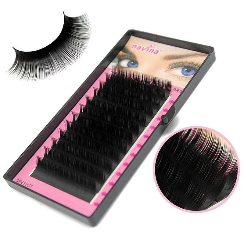 Navina 3D Russia Volume Korea Silk Individual Lash Eyelash Extension Handmade Natural Long Individual Mink Lashes False Lash TOP