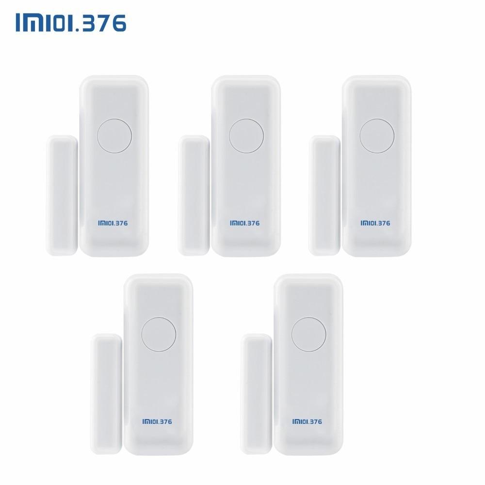 LM101.376 433 MHz détecteur de capteur d'aimant de porte de fenêtre sans fil pour le système d'alarme sans fil à la maison
