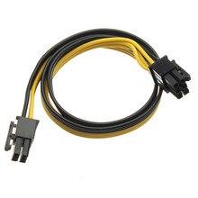 50 см ПК блок питания адаптер конвертер кабель PCI-E 6Pin до 6Pin Мужской кабель для видеокарты кабель для майнинга для горнодобывающей машины