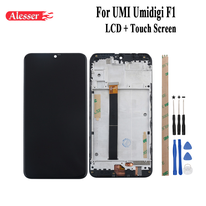 Alesser For UMI Umidigi F1 LCD Display and Touch Screen Frame Assembly Repair Parts Tools Adhesive