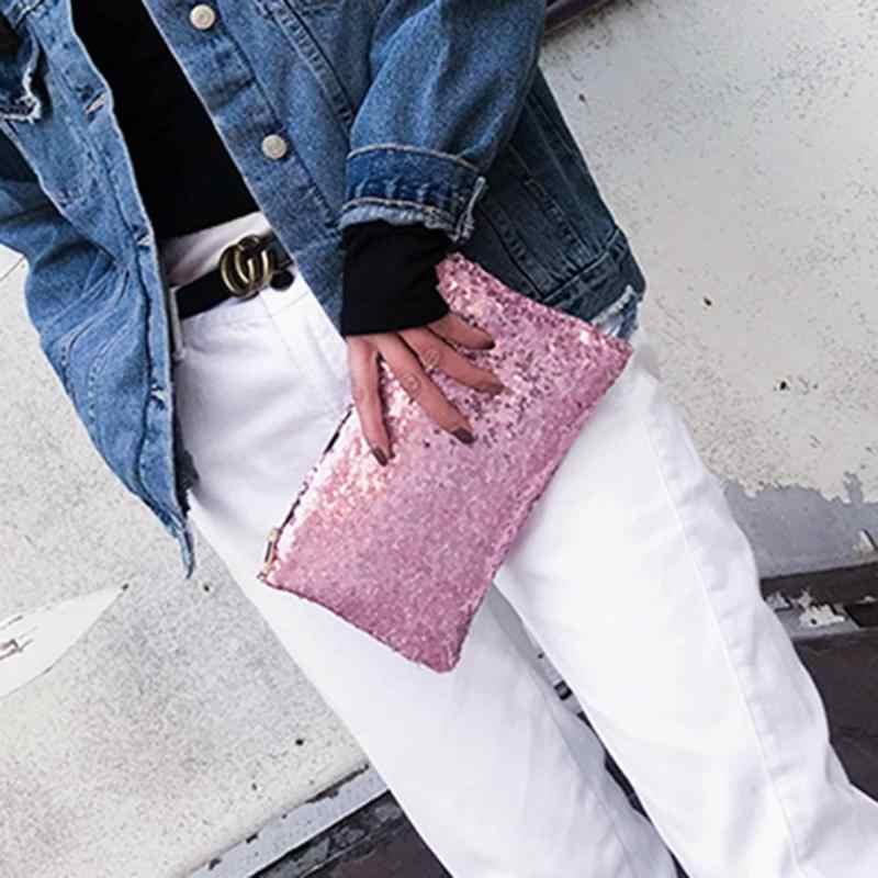 ... Fashion Women Sequins Clutch Bag Retro Evening Party Glitter Envelope  Bag ... 740a39ceb7bc