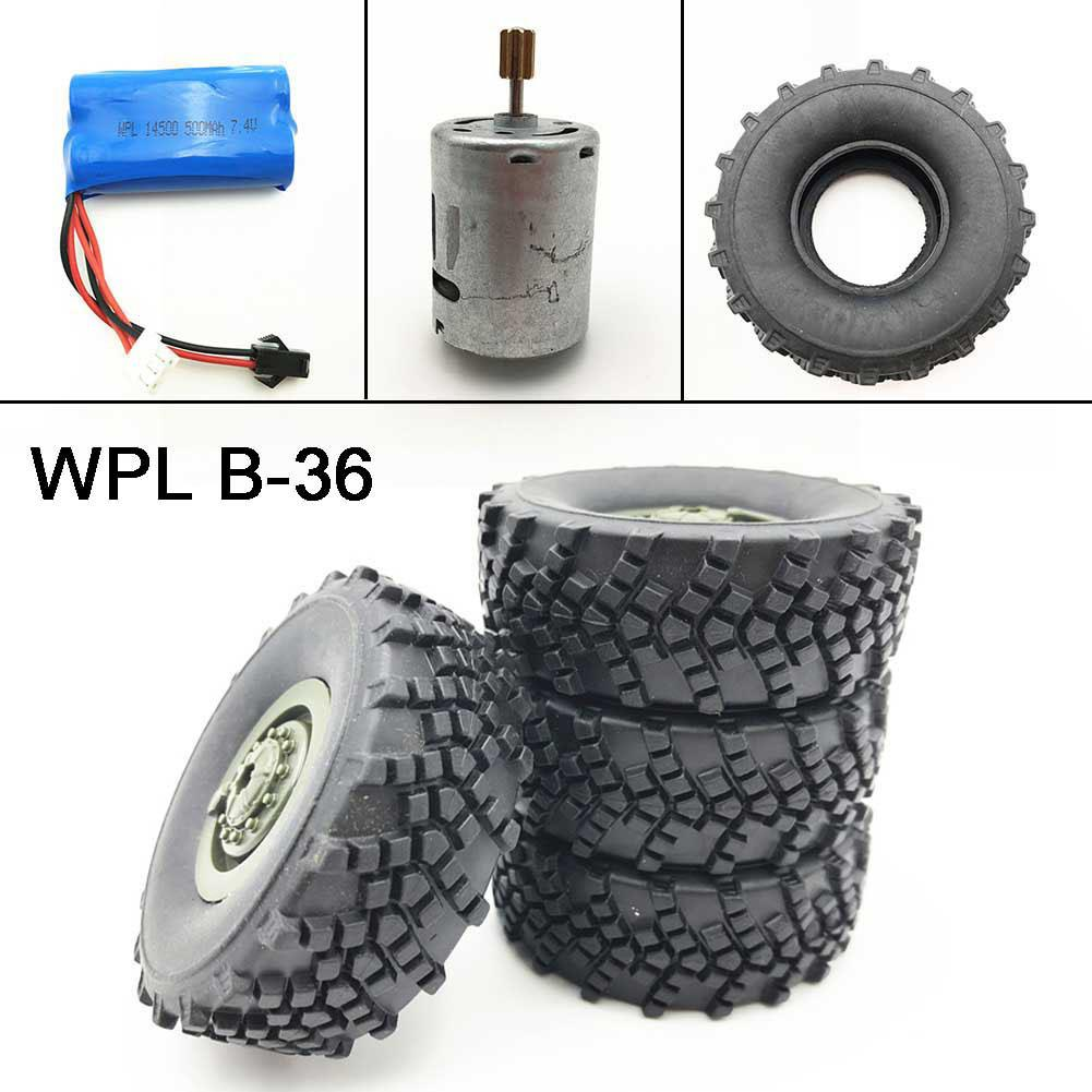 RCtown RC Auto Reifen/Batterie/Motor Gilt für: 1:16 RC Auto WPL Ural B36 B24 B16 C24 Fernbedienung Auto