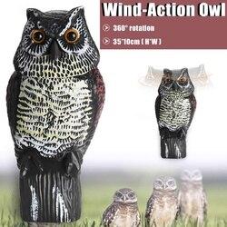 Realista espantapájaros cabeza giratoria búho señuelo protección repelente pájaro Control de Plagas espantapájaros jardín decoración