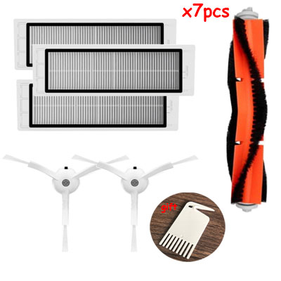 Replacement 3 PCS hepa filter+2 PCS side brush+1 PCS main brush parts accessories Suitable for Xiaomi Mi Robot Vacuum CleanerReplacement 3 PCS hepa filter+2 PCS side brush+1 PCS main brush parts accessories Suitable for Xiaomi Mi Robot Vacuum Cleaner