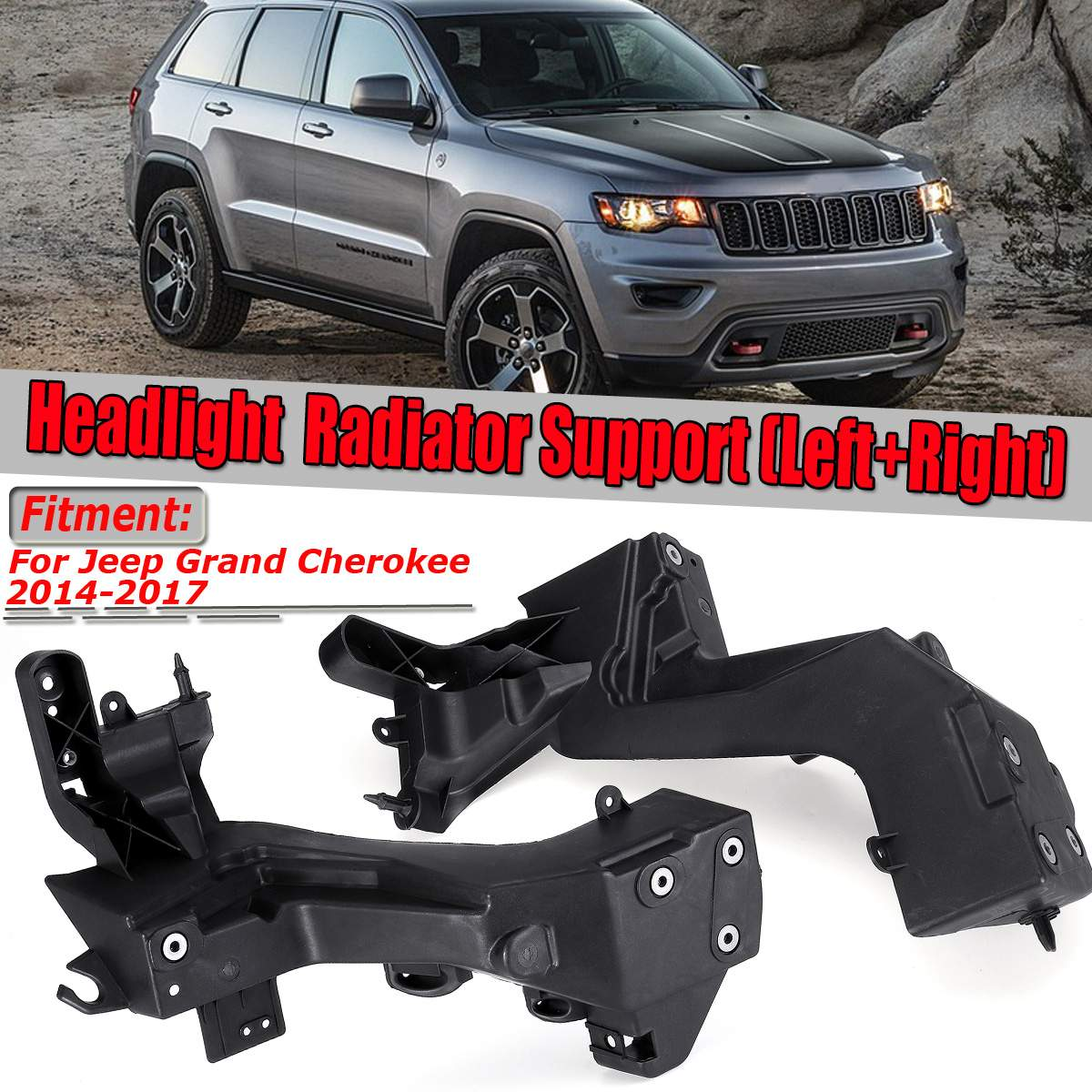 68223399AA Left Headlight Mounting Bracket For Jeep Grand Cherokee 2014-2017