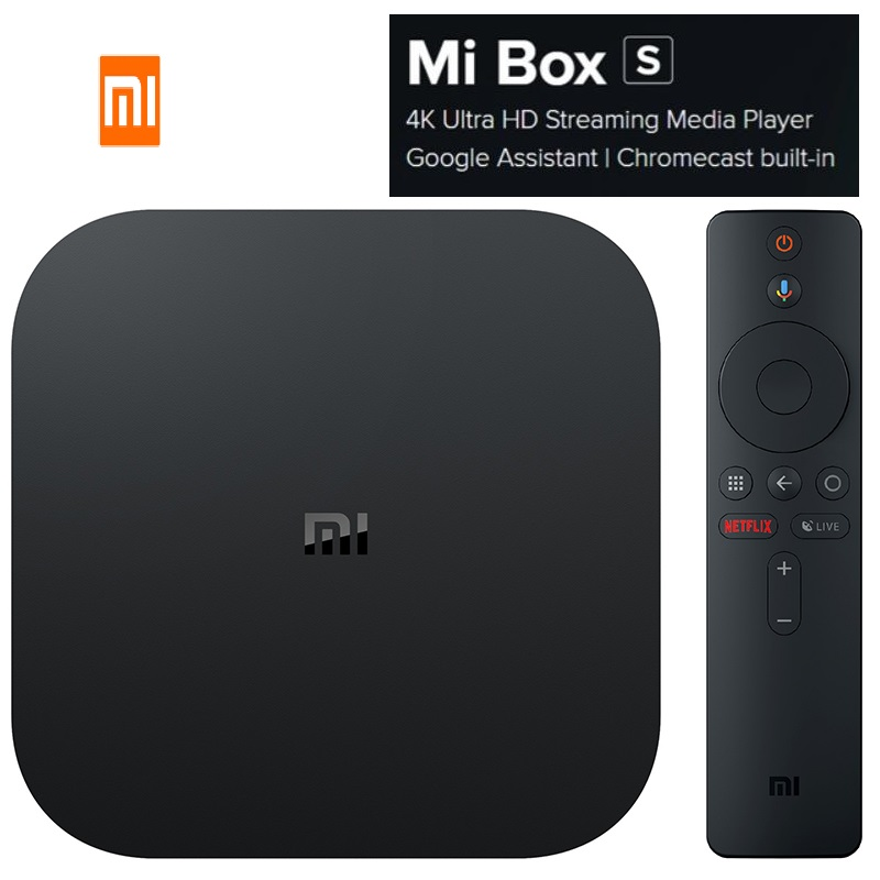 Xiaomi Mi TV Box-S 4K HDR Android8.1 Cortex-A53 Quad Core 64 bit Mali-450 2+8GB HDMI2 2.4G + 5.8G WiFi BT4.2 Set-top Box Gaming