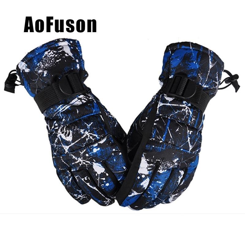 Перчатки унисекс ветрозащитные водонепроницаемые дышащие зимние теплые перчатки для катания на сноуборде и лыжах для мужчин и женщин Нови...