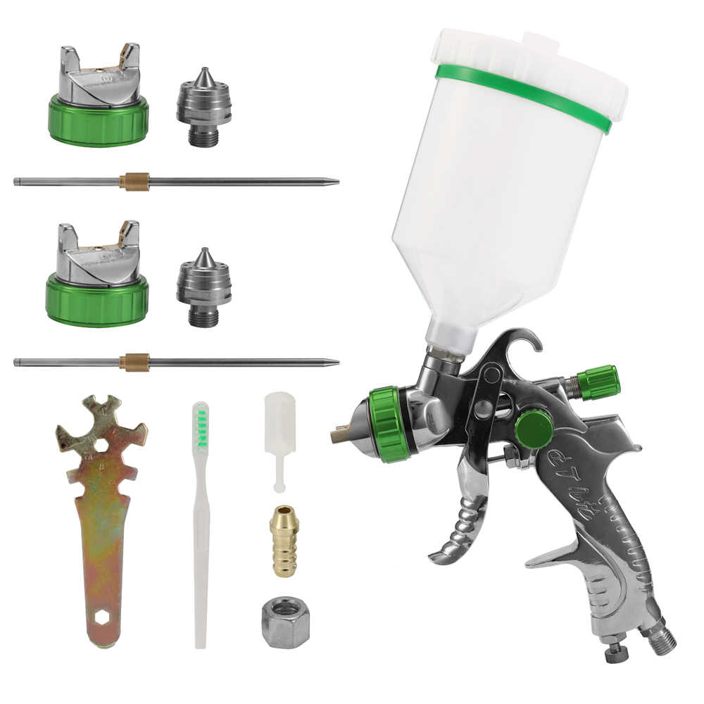 Pistola de pulverização ferramenta kit airbrush pistola de ar tornador compressor sandblaster máquina pintura pulverizador conjunto escova de ar do carro automático pintura
